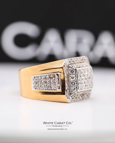 1.70 CT. Exclusive Men's Diamond Ring in 10K Gold