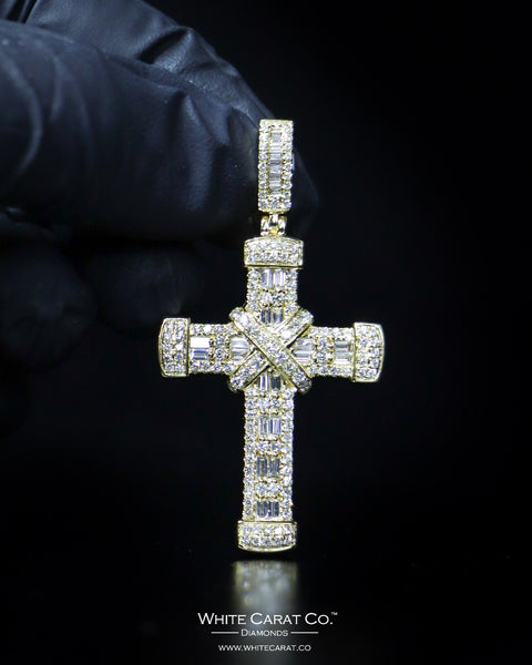 "1.88 CT. ""Cross"" Gold Pendant in 14K Gold"