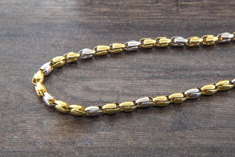 10K Gold 2 Tone Bullet Chain - 5.00 mm