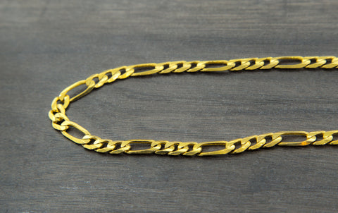 10K Gold Figaro Chain - 9.00 mm