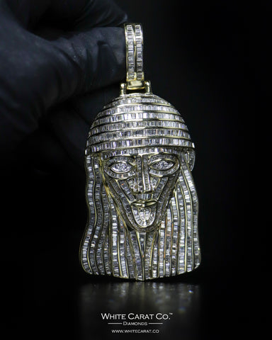 "16.35 CT. ""Jesus"" Gold Pendant in 14K Gold"