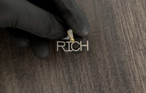 0.26 CT. RICH Diamond Pendant in 10K Yellow Gold