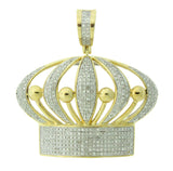 0.95 CT. Crown Diamond Pendant in 10K Gold
