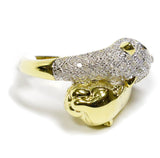 0.25 CT. Panther Twins Diamond Statement Ring in 10K Gold
