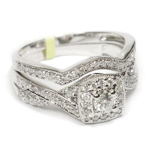 0.75 CT. Square Diamond Engagement Ring in 14K White Gold