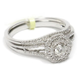 0.50 CT. Halo Diamond Engagement Ring Set in 14K White Gold