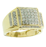 0.96 CT. Side Accented Diamond Ring in 10K Yellow Gold