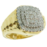1.92 CT. Stepped Diamond Ring in 10K Yellow Gold