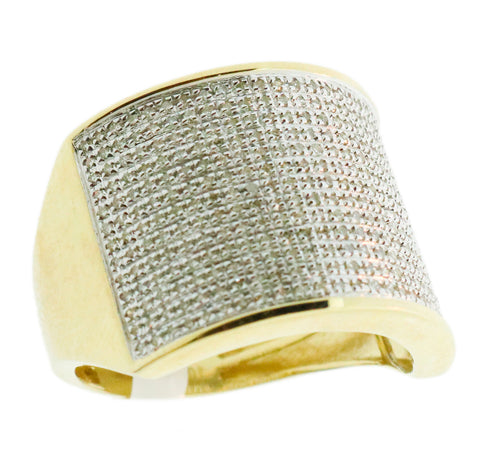 0.55 CT. Pavé Diamond Ring in 10K Yellow Gold