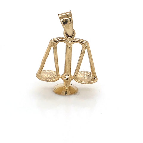 10K Yellow Gold Scale Pendant