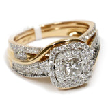 1.00 CT. Swirling Diamond Engagement Ring Set in 14K Rose Gold