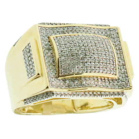 0.80 CT. Micro Pavé Diamond Ring in 10K Yellow Gold