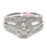 1.00 CT. Classic Halo Diamond Engagement Ring in 14K White Gold