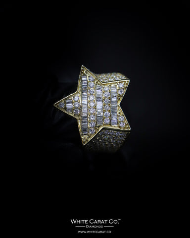 2.86 CT. Exclusive Diamond Men's Ring in 10K Gold