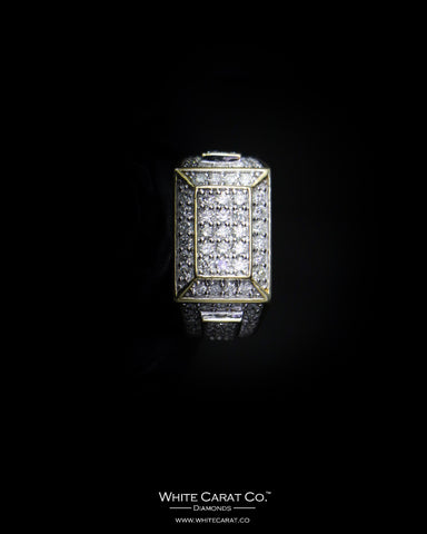 2.18 CT. Exclusive Diamond Men's Ring in 14K Gold