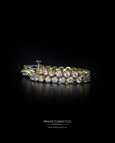 3.47 CT. Tennis Diamond Bracelet in 14K Gold