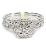 0.75 CT. Halo Diamond Engagement Ring Set in 14K White Gold