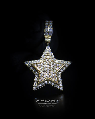 2.20 CT. Diamond Star Pendant in 10K Gold