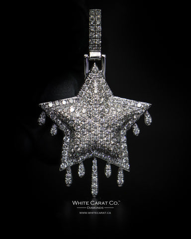 "4.00 CT. ""Drip Star"" Diamond Pendant in 14K Gold"
