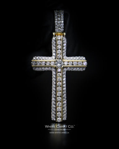2.50 CT. Cross Diamond Pendant in 10K Gold