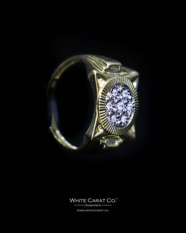 0.10 CT. Exclusive Men's Diamond Ring in 10K Gold
