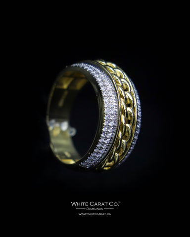 0.48 CT. Exclusive Men's Diamond Ring in 10K Gold
