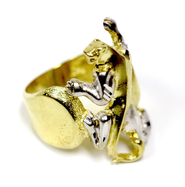 Panther Ring in 10K Two-Tone Gold