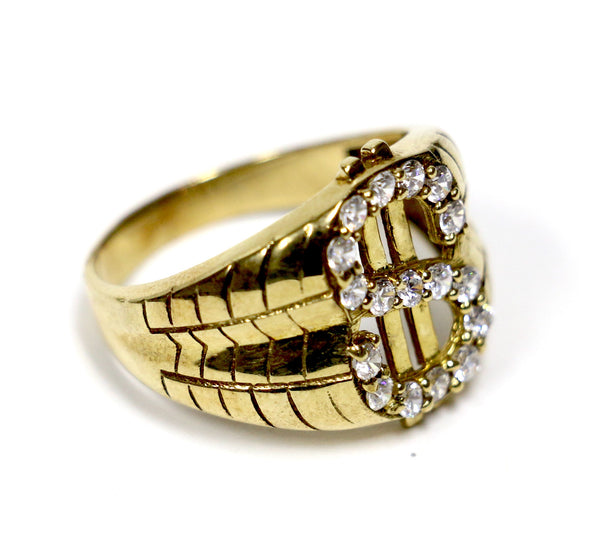 Dollar Sign Ring in 10K Gold
