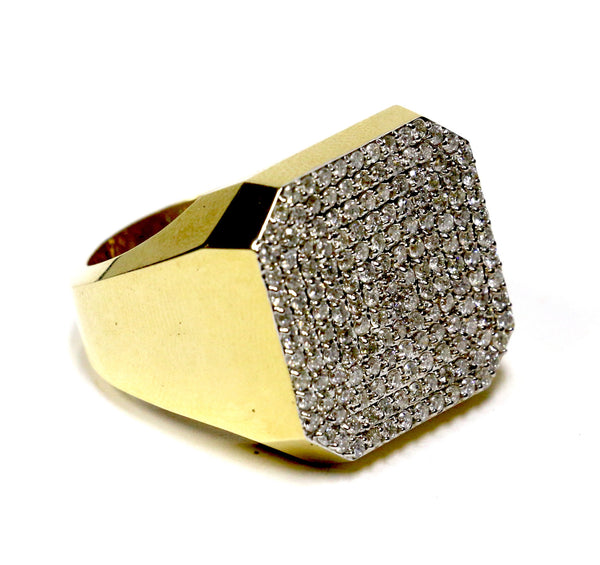 1.95 CT. Large Square Diamond Ring in 10K Yellow Gold