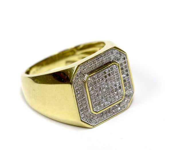 0.50 CT. Double Square Diamond Ring in 10K Yellow Gold
