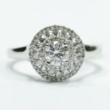 1.03 CT. Diamond Engagement Ring in 14K White Gold