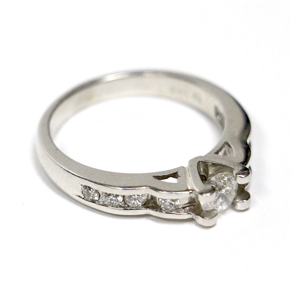 0.75 CT. Diamond Engagement Ring in 14K White Gold