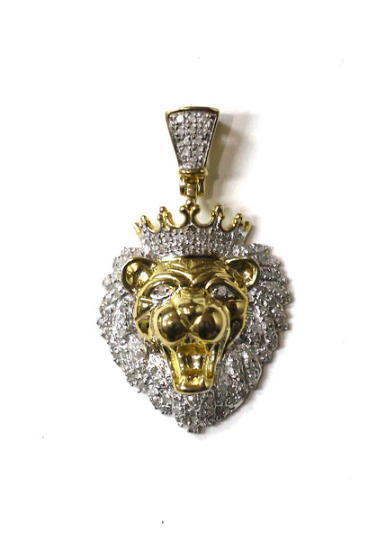 0.50 CT. Lion Diamond Pendant in 10K Yellow Gold