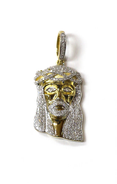 0.75 CT. Jesus Diamond Pendant in 10K Yellow Gold