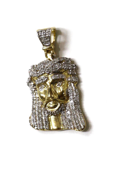 0.40 CT. Jesus Diamond Pendant in 10K Yellow Gold