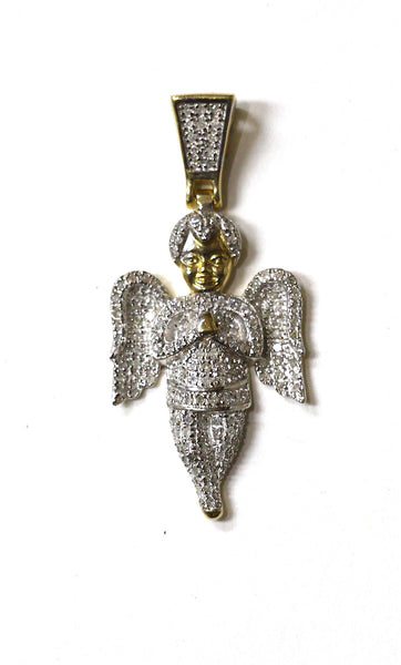 0.66 CT. Praying Angel Diamond Pendant in 10K Yellow Gold