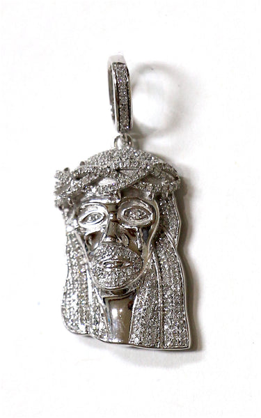0.75 CT. Jesus Diamond Pendant in 10K White Gold