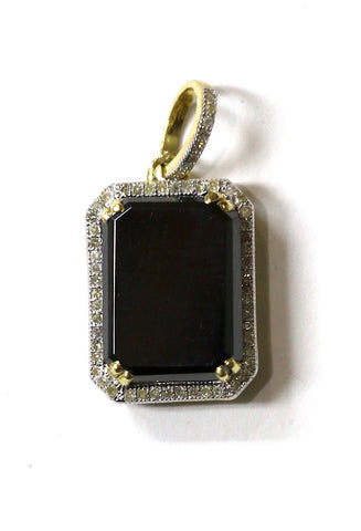 0.25 CT. Emerald Diamond Pendant in 10K Yellow Gold