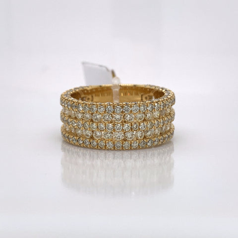 4.09CT Diamond 10K Yellow Gold Ring