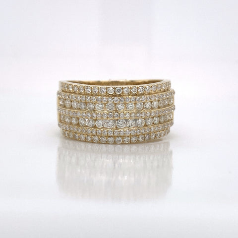 1.49CT Diamond 10K Yellow Gold Ring