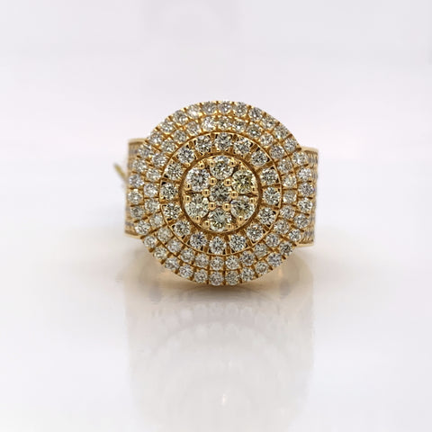 3.51CT Diamond 10K Yellow Gold Ring