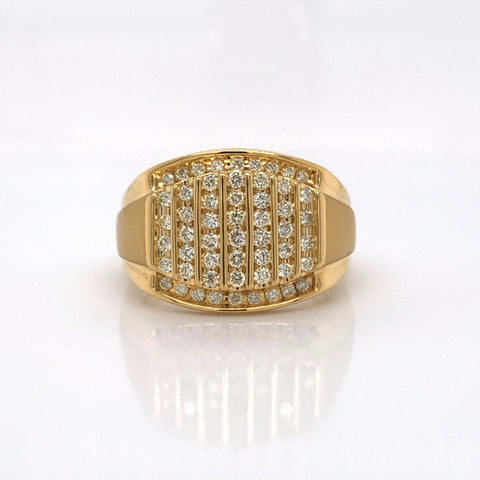 0.78CT Diamond 10K Yellow Gold Ring