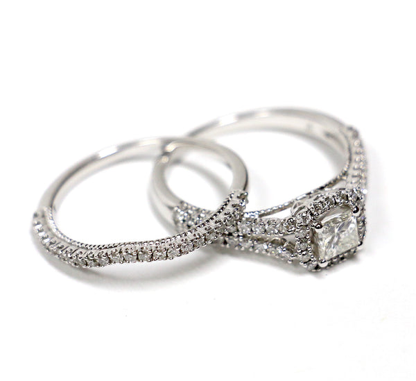 1.20 CT. Diamond Engagement Ring Set in 14K White Gold