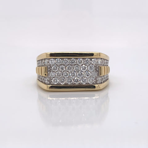 1.27CT Diamond 14K Yellow Gold Ring