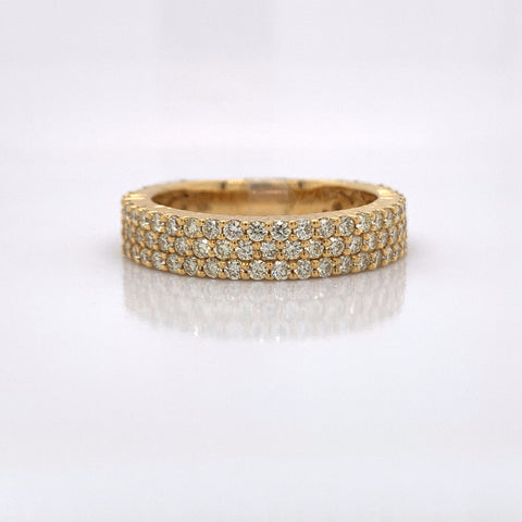 1.98CT Diamond 10K Yellow Gold Ring