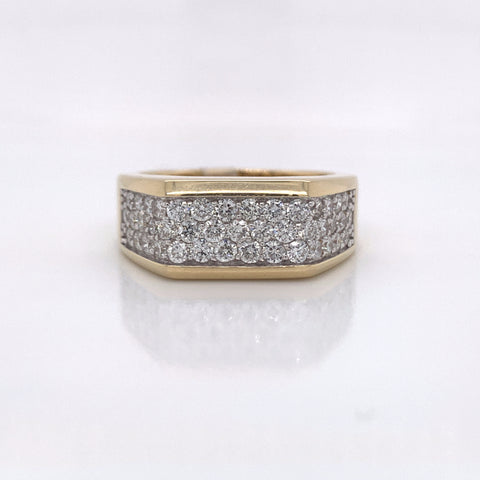 1.50CT Diamond 14K Yellow Gold Ring