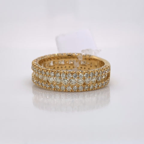 2.74CT Diamond 10K Yellow Gold Ring