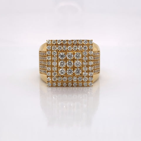 2.10CT Diamond 10K Yellow Gold Ring