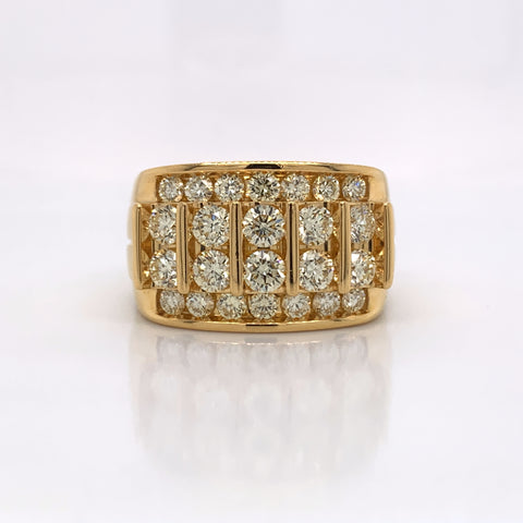 2.98CT Diamond 10K Yellow Gold Ring