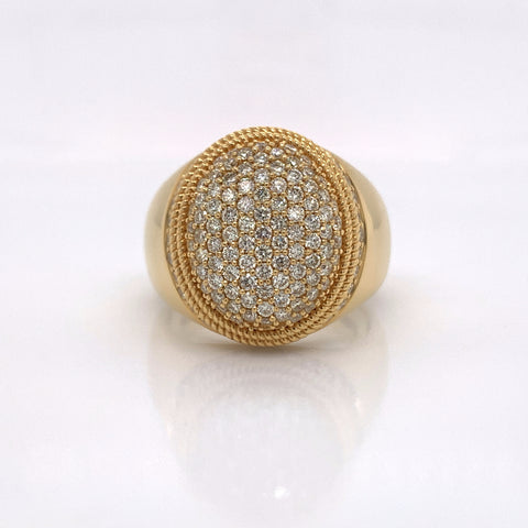 1.77CT Diamond 10K Yellow Gold Ring